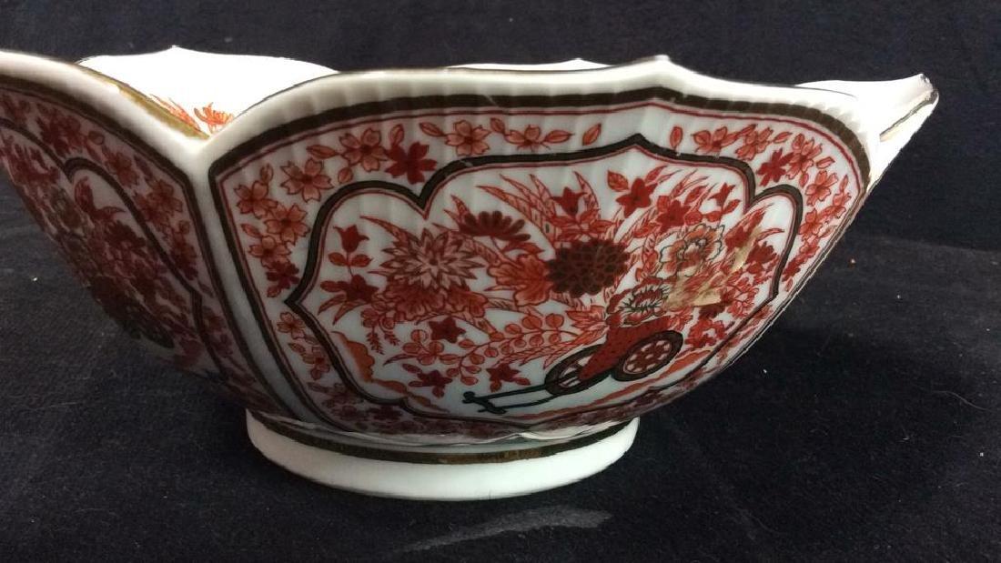 Asian Russet Gold White Porcelain Bowl - 5