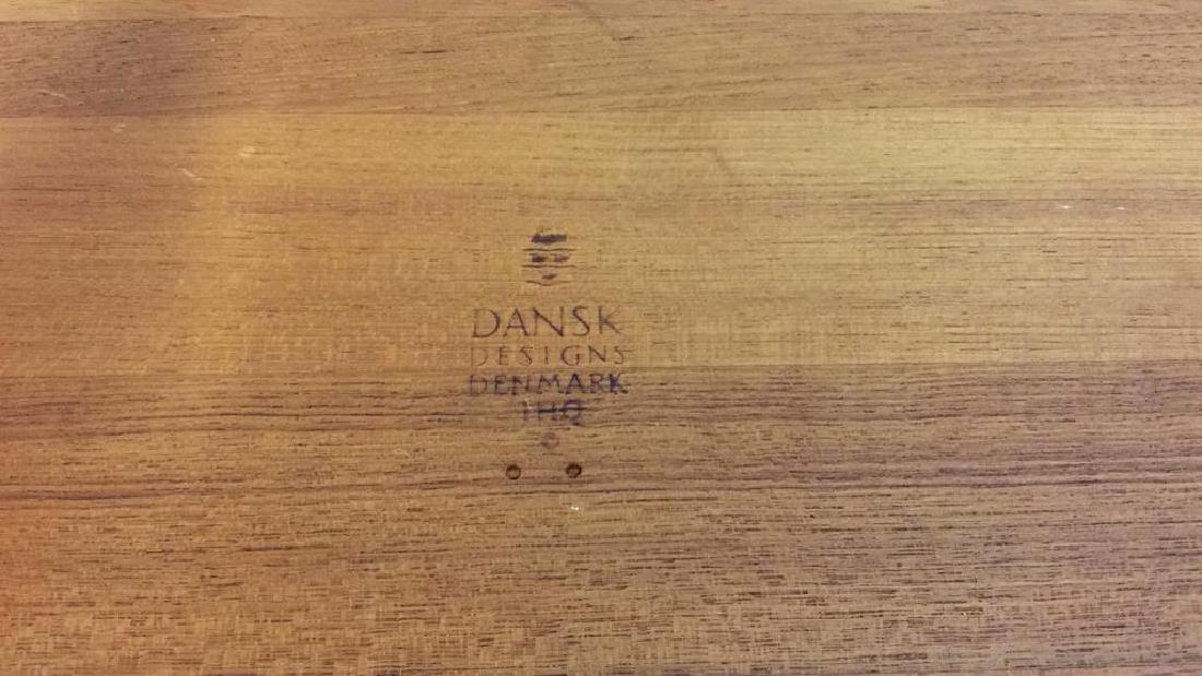 Vintage Dansk FootedTeak Tray, Denmark - 8