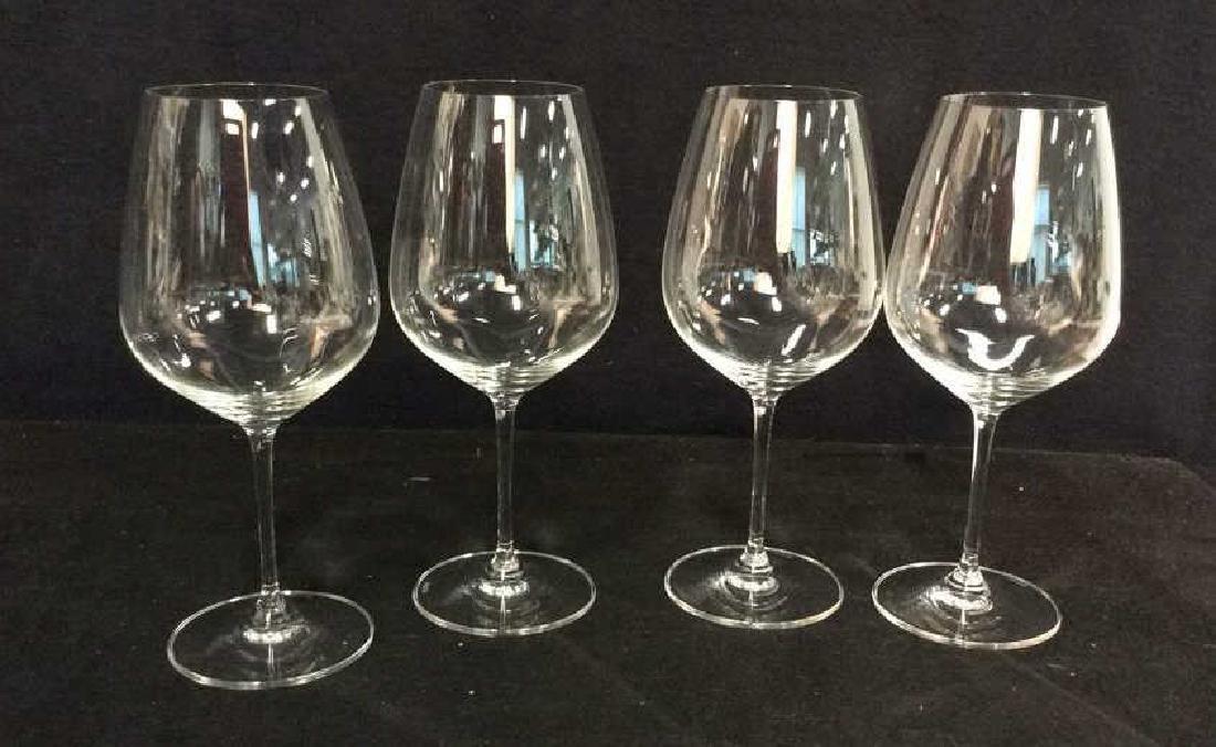 Set 4 Oversized Riedel Crystal Wine Goblets