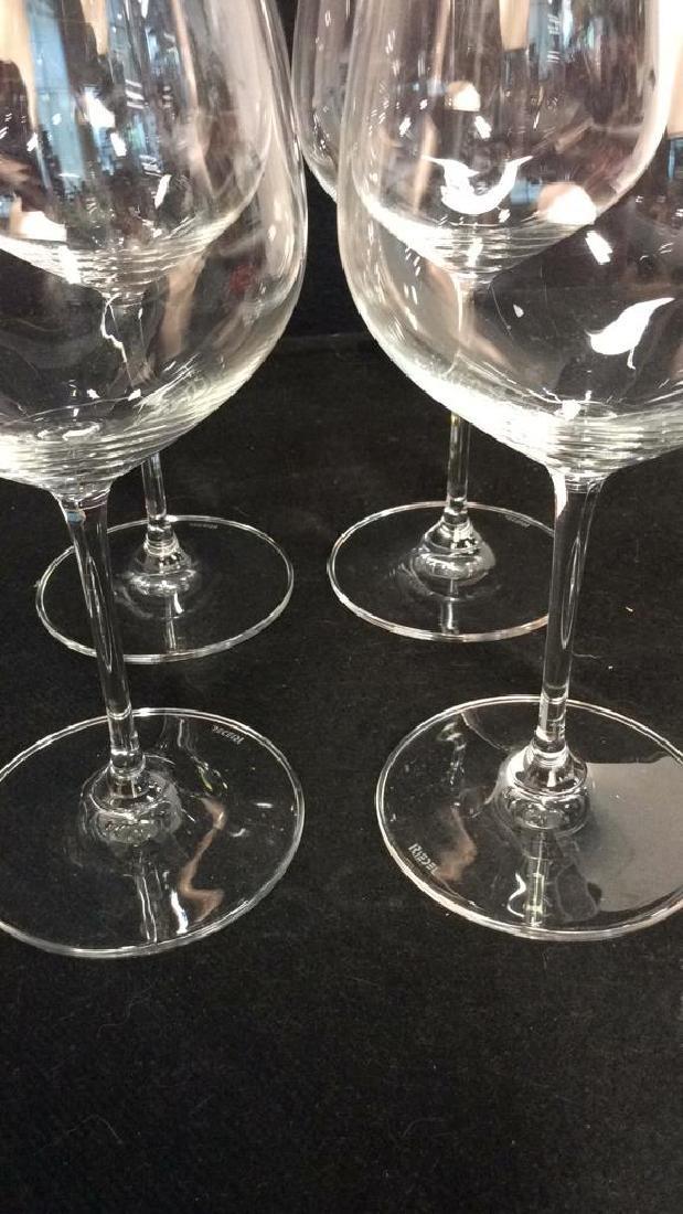 Set 4 Oversized Riedel Crystal Wine Goblets - 4