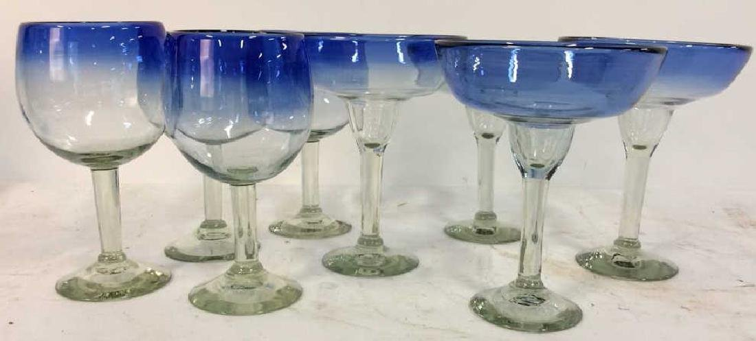 Group 8 Blue TonedBar Drinks Glasses