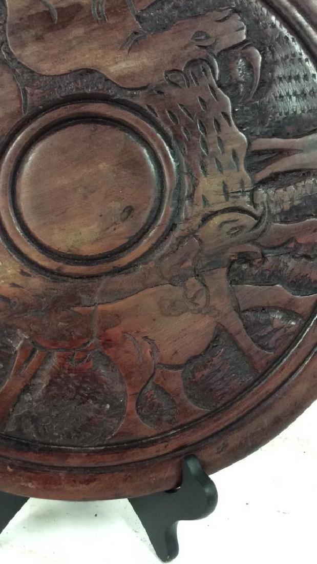Hand Carved Elephant Design Wood Sculptural - 2