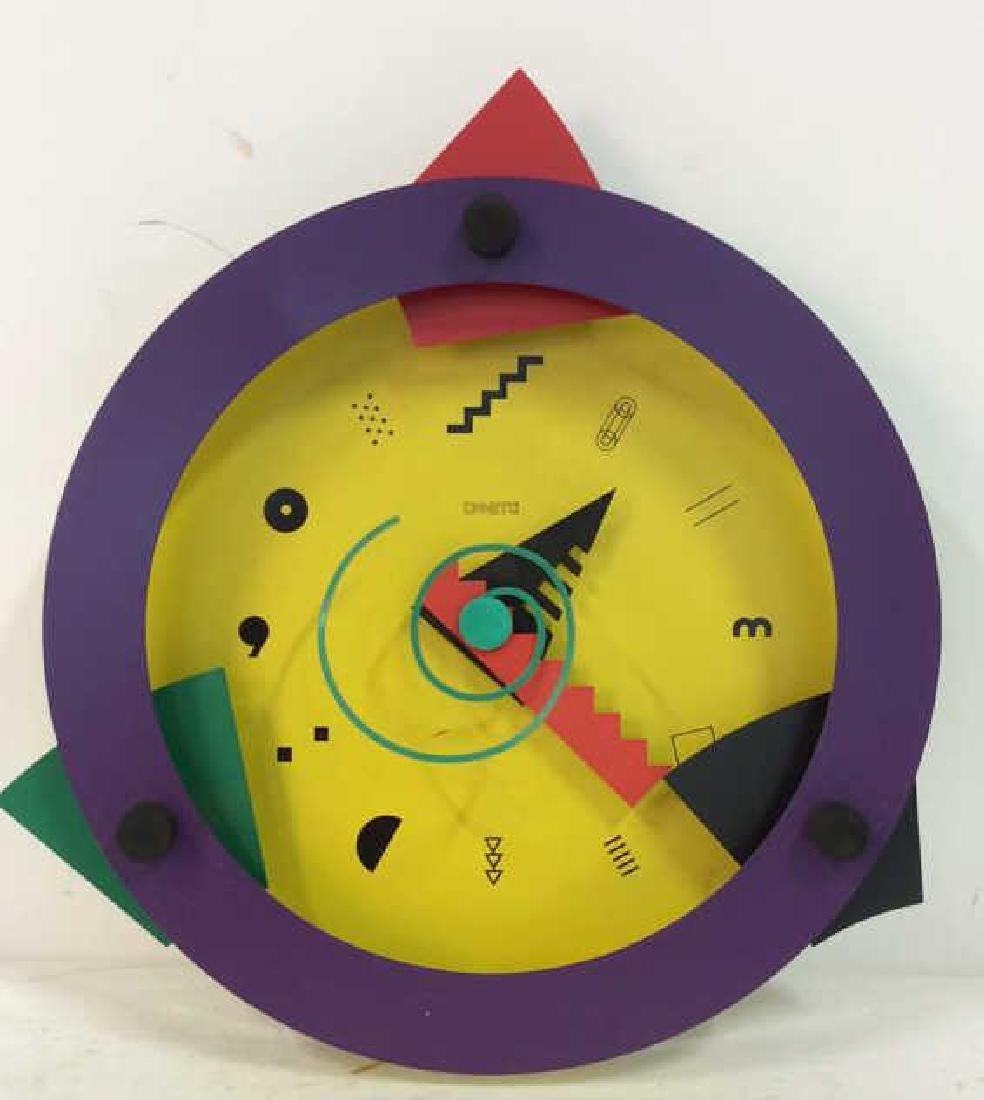 CANETTI Painted Metal Wall Clock Sculpture