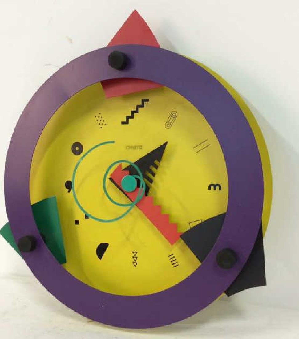 CANETTI Painted Metal Wall Clock Sculpture - 2