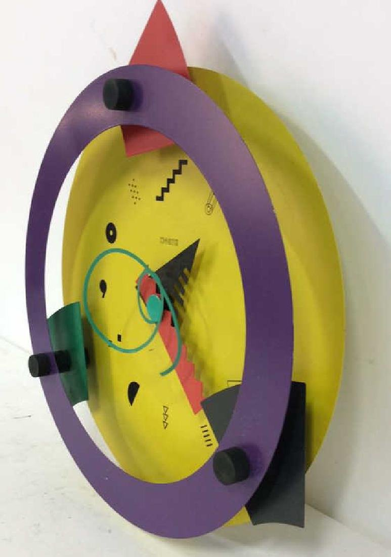 CANETTI Painted Metal Wall Clock Sculpture - 5