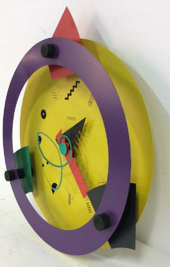 CANETTI Painted Metal Wall Clock Sculpture - 6