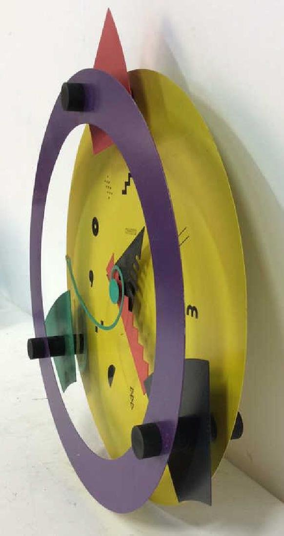 CANETTI Painted Metal Wall Clock Sculpture - 7