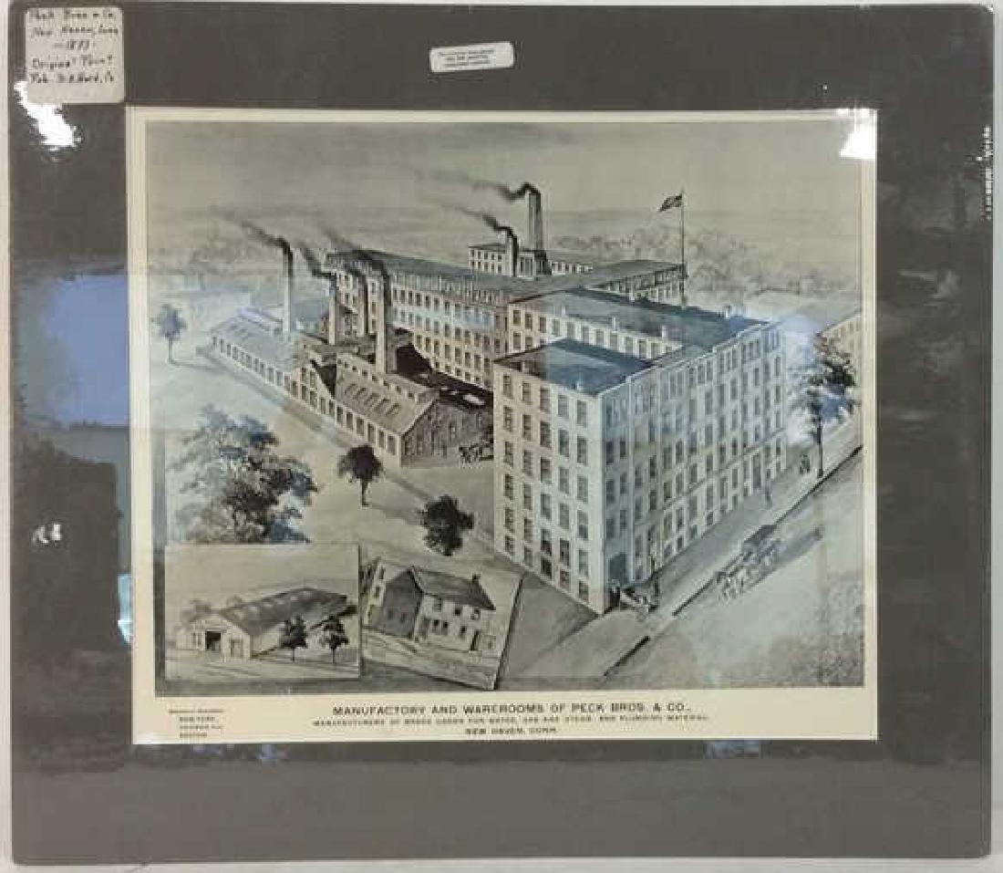 Original Print Peck Bros & Co New Haven, 1893
