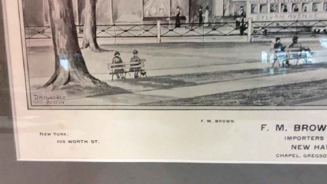 Antique Original Print 1893 by D.H. Hurd & Co - 6