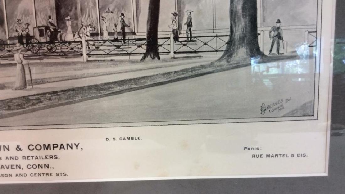 Antique Original Print 1893 by D.H. Hurd & Co - 8