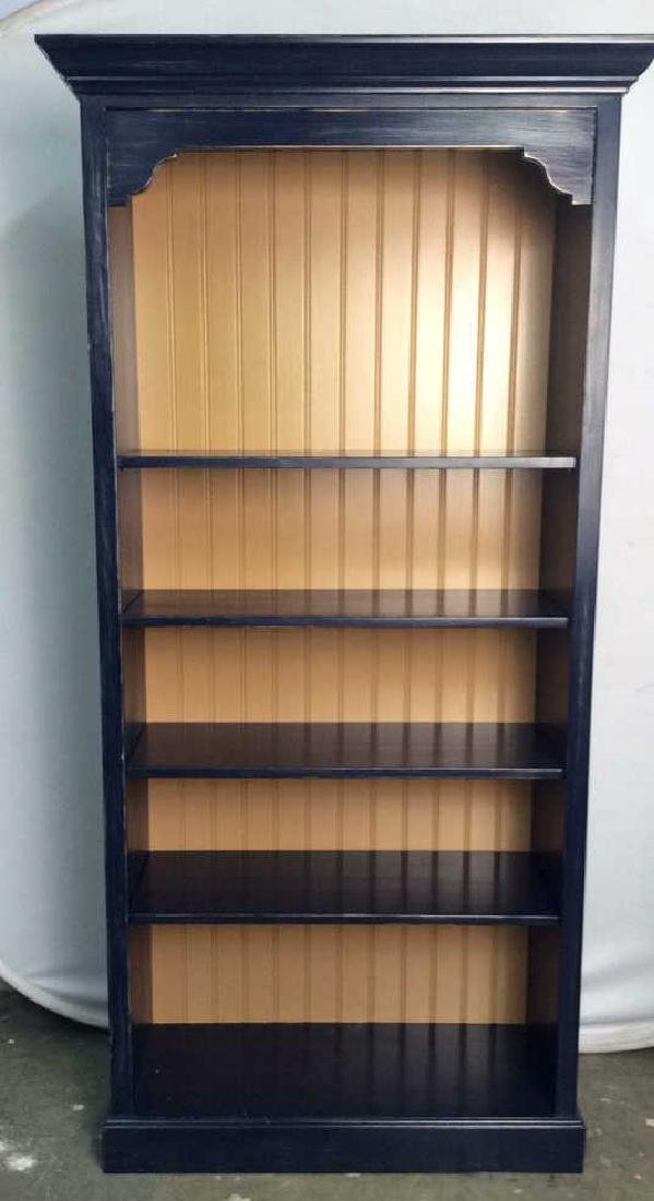 Navy Toned and Cream Wooden Bookshelf - 2