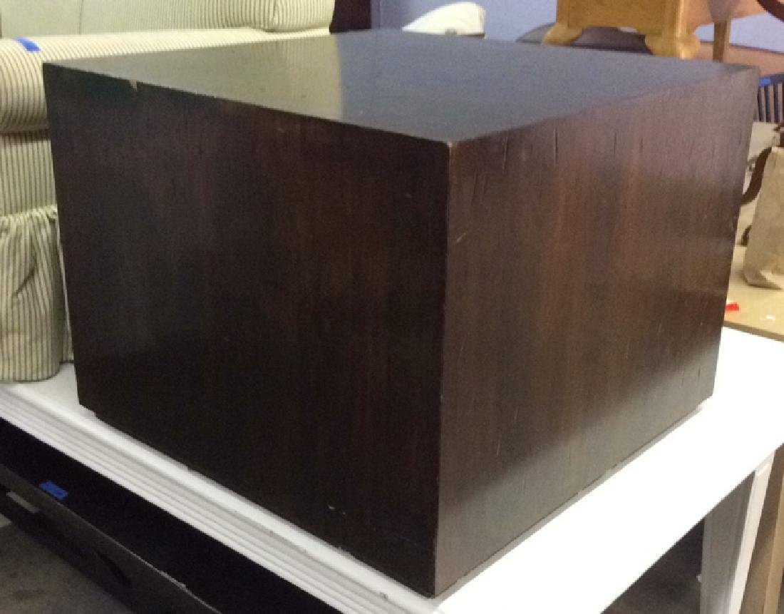 Brown Toned Wooden Cube Coffee Table