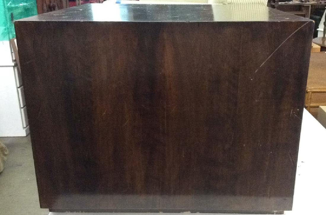 Brown Toned Wooden Cube Coffee Table - 2