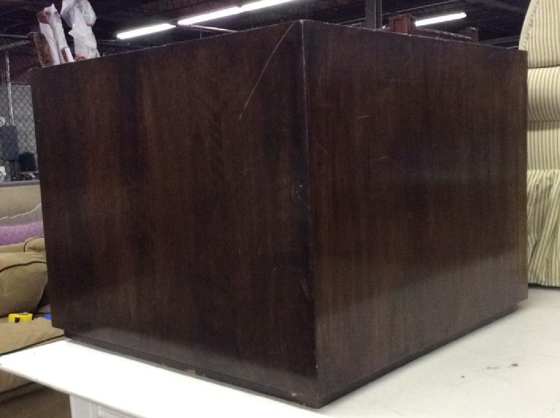 Brown Toned Wooden Cube Coffee Table - 3