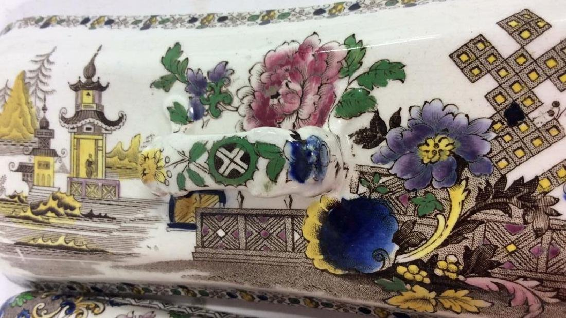 Collectible Transferware Lidded Dish