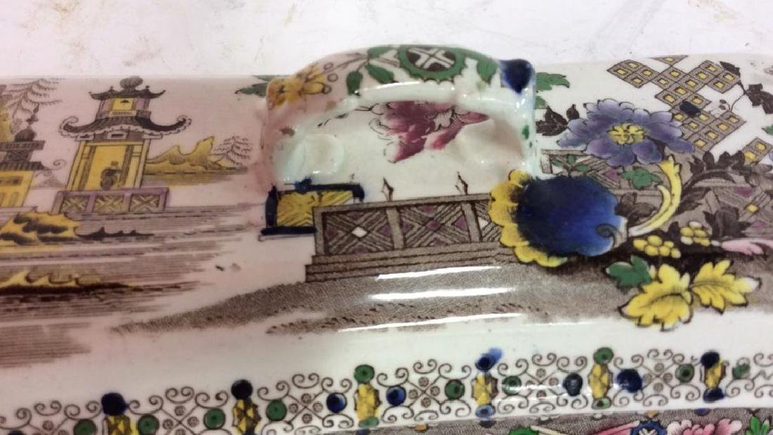 Collectible Transferware Lidded Dish - 3