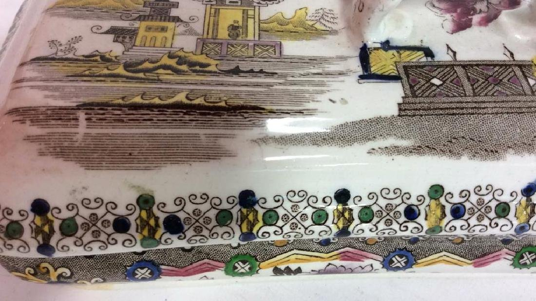 Collectible Transferware Lidded Dish - 5