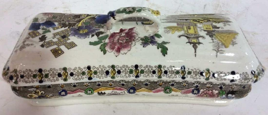 Collectible Transferware Lidded Dish - 6