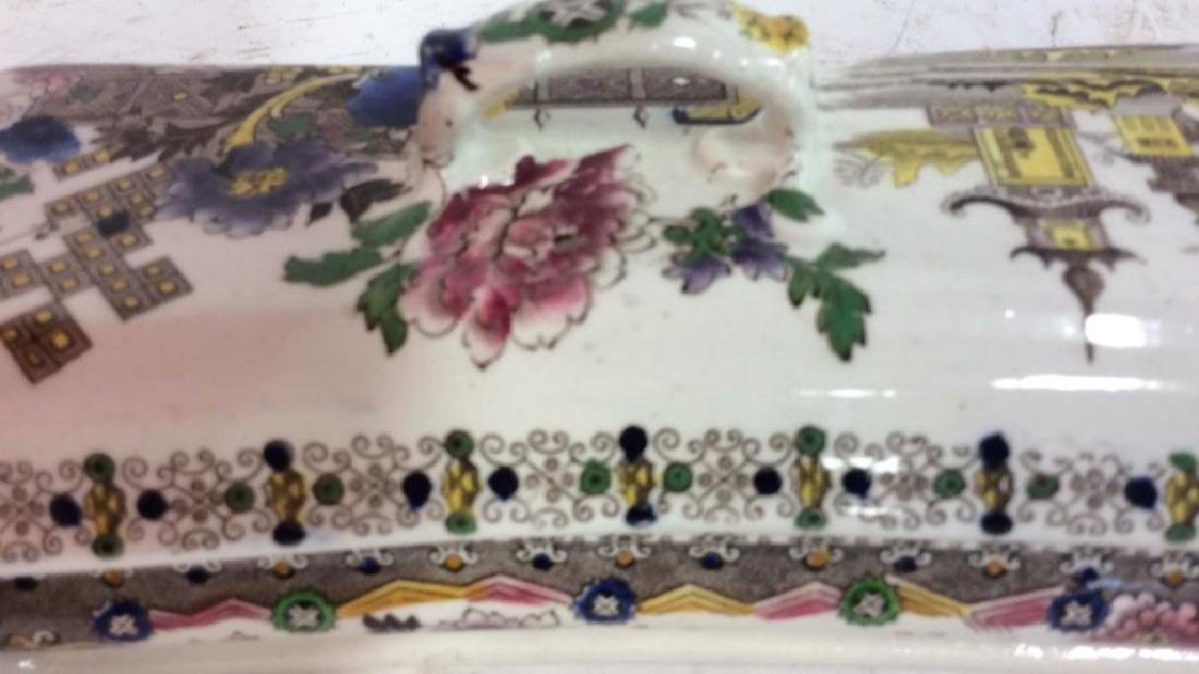 Collectible Transferware Lidded Dish - 7