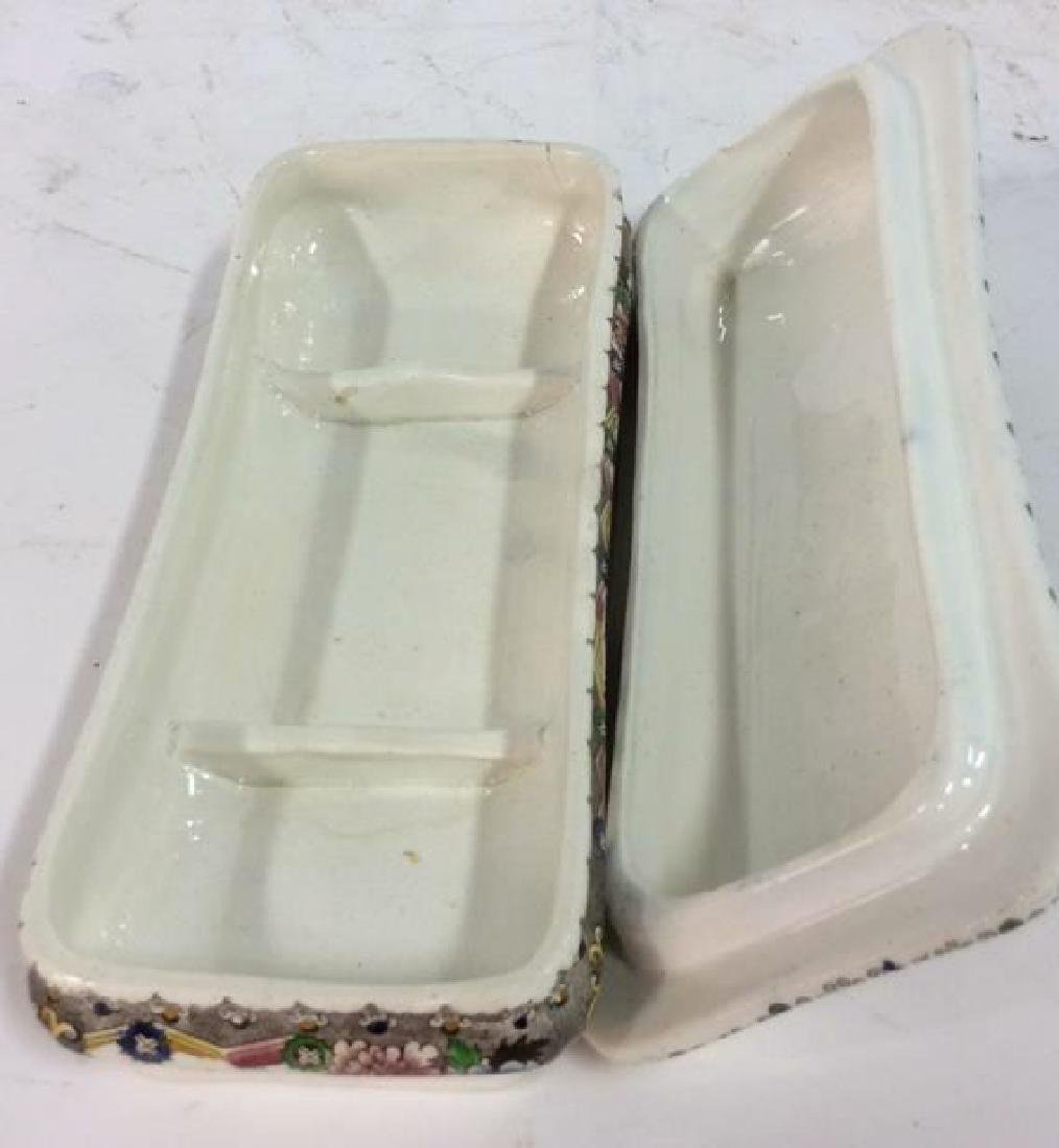 Collectible Transferware Lidded Dish - 8