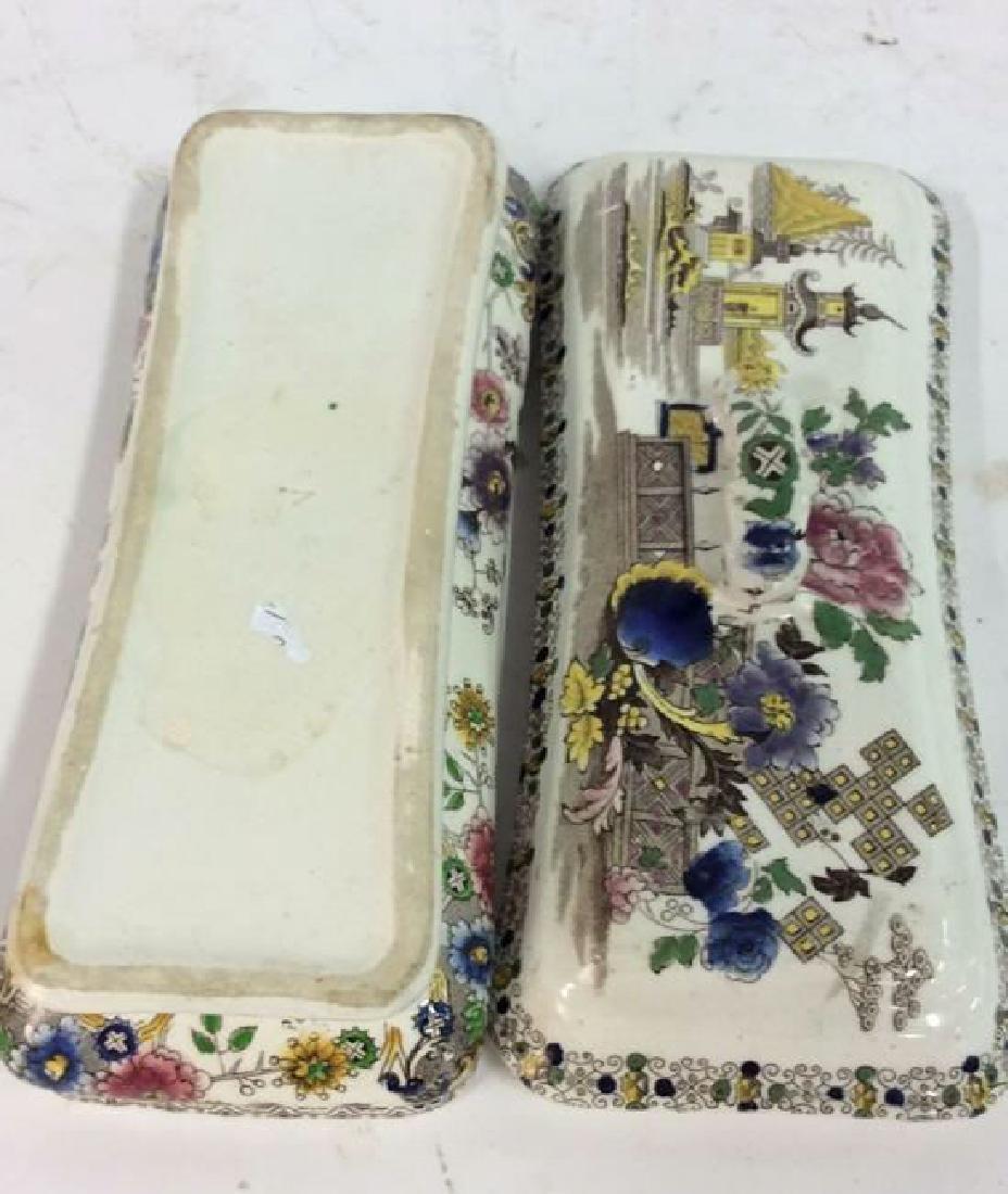 Collectible Transferware Lidded Dish - 9