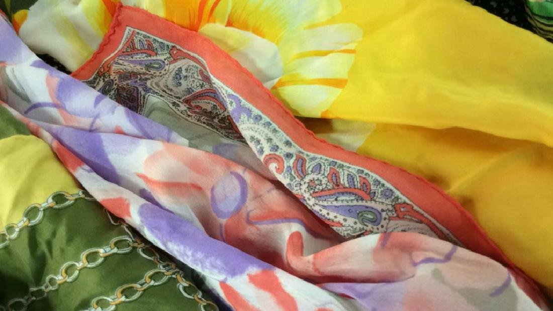 Group Lot  VIntage  Ladies Scarves - 10
