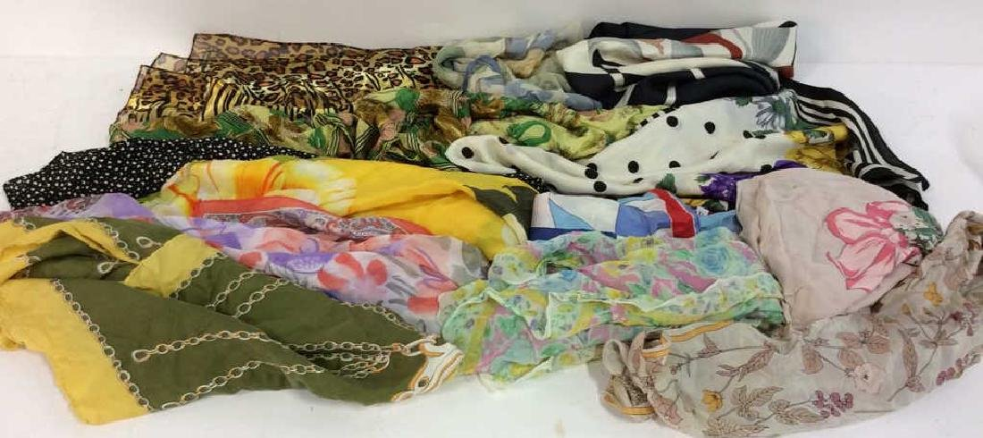 Group Lot  VIntage  Ladies Scarves
