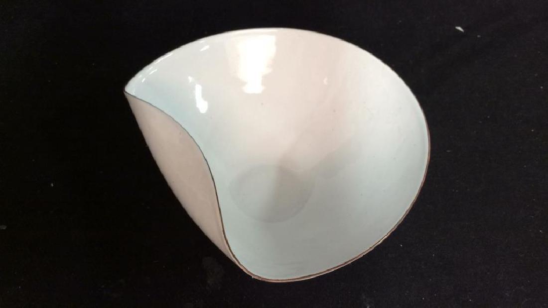 KILN marked contemporary enamel Candy Dish - 4