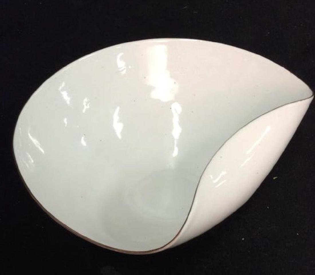 KILN marked contemporary enamel Candy Dish - 8