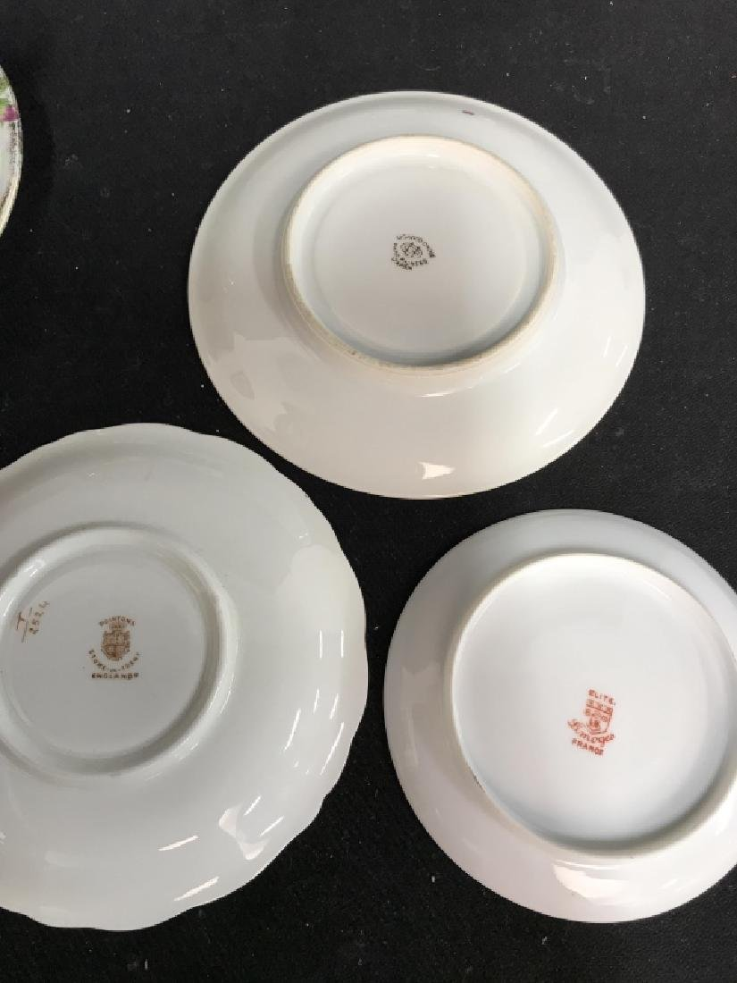 Group Lot 13 Assorted Fine China Teacups and - 5