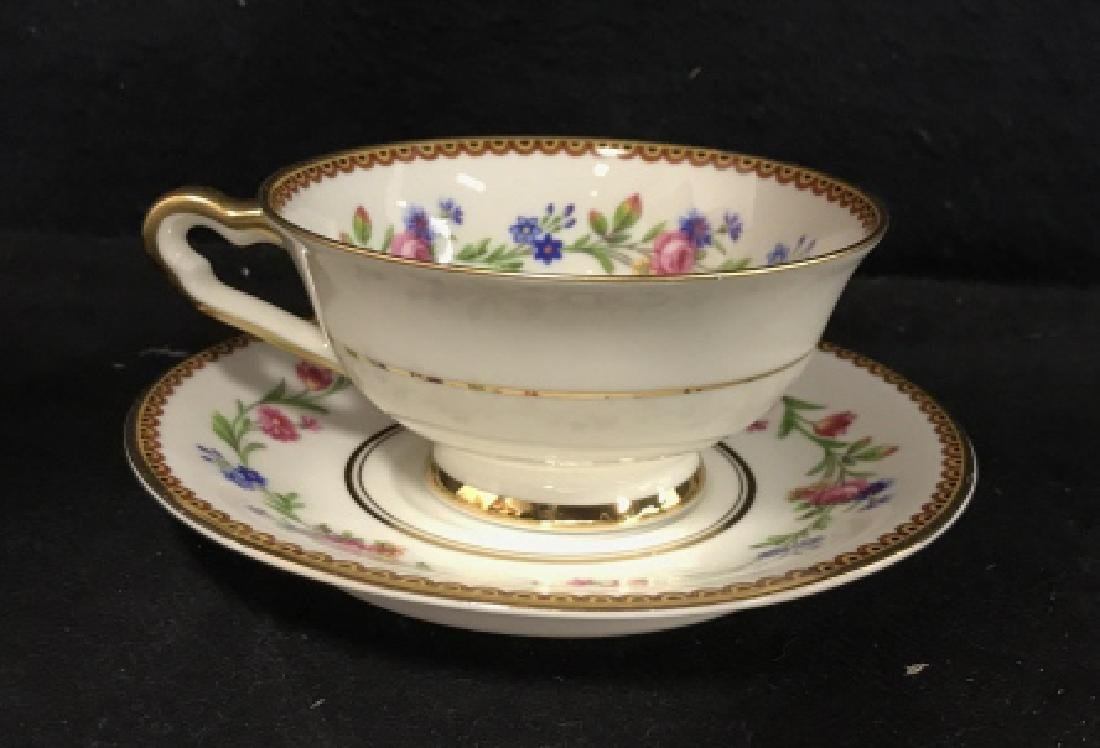 Group Lot 13 Assorted Fine China Teacups and - 7