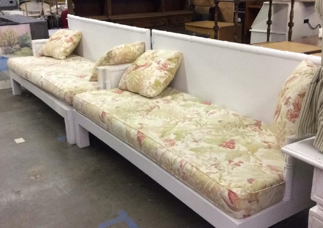 Pair custom made Oversized indoor/ outdoor sofa w