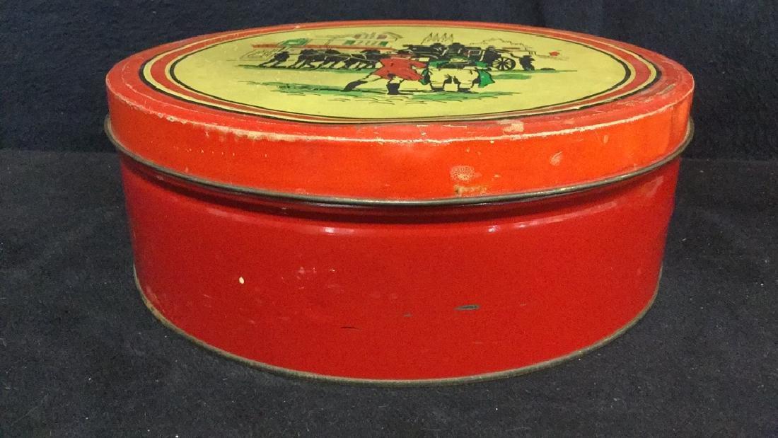 Lot 3 Vintage English Biscuit Cookie Tins - 5