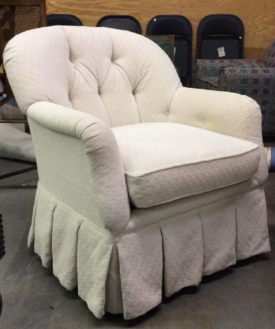 TRS FURNITURE INC. skirted tufted armchair