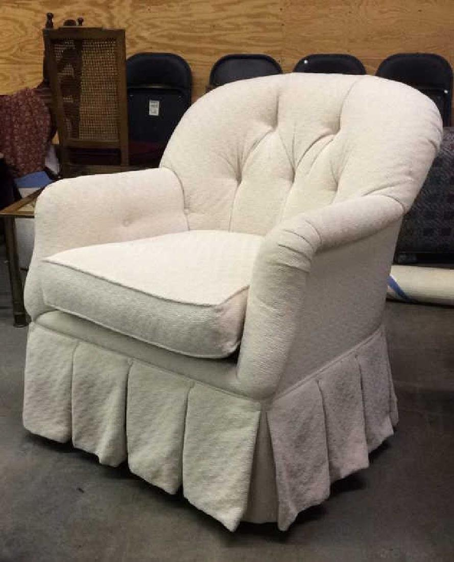 TRS FURNITURE INC. skirted tufted armchair - 8