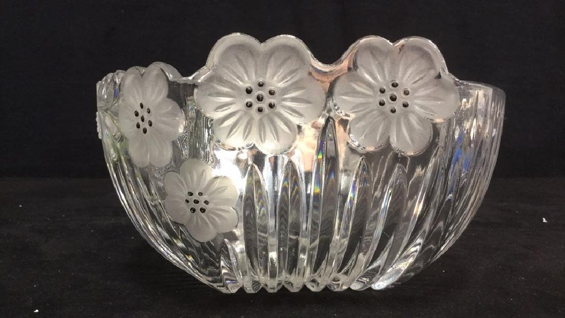 Lot 8 Cut Glass Bowl With Faux Green Apples - 6