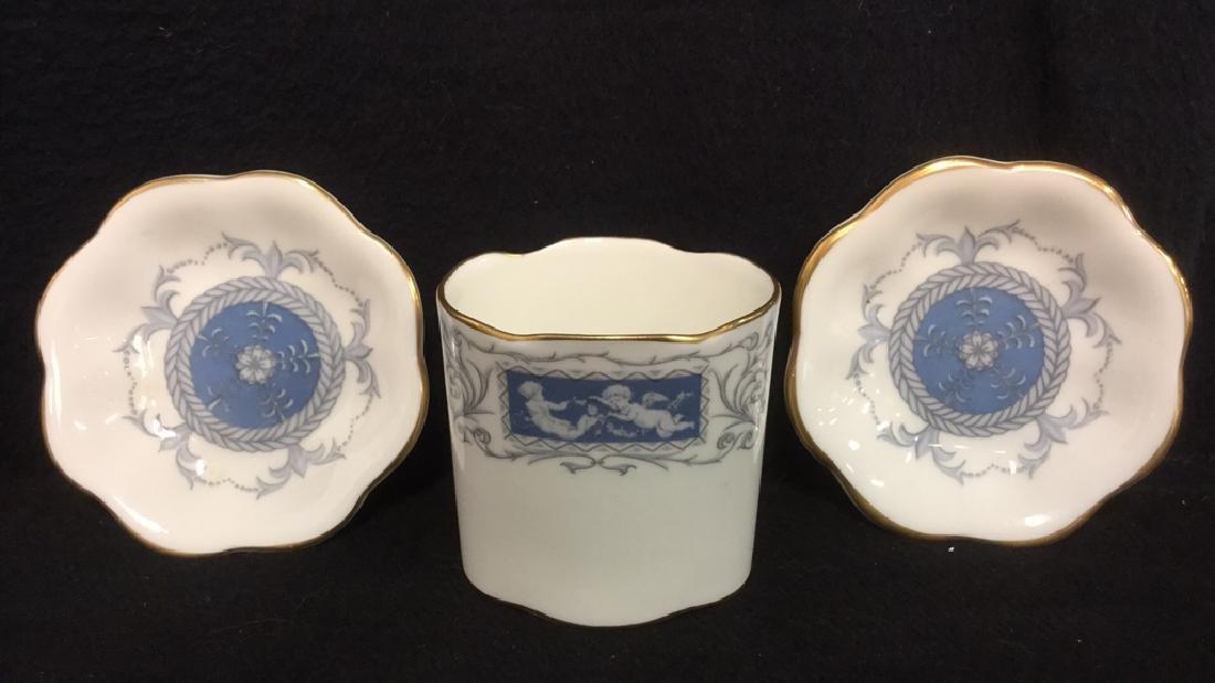 Lot 6 Porcelain Metal Tabletop Accessories - 7