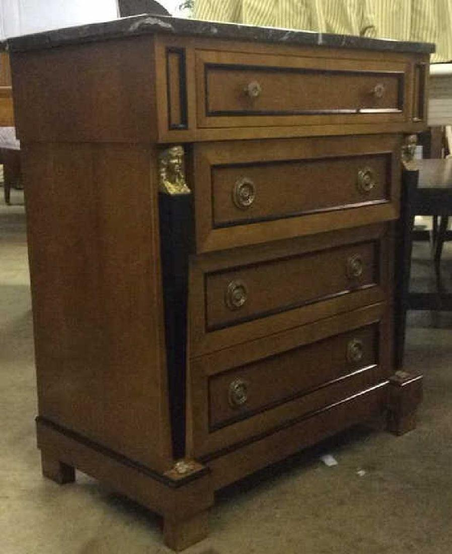 Empire Style vintage marble top Commode dresser