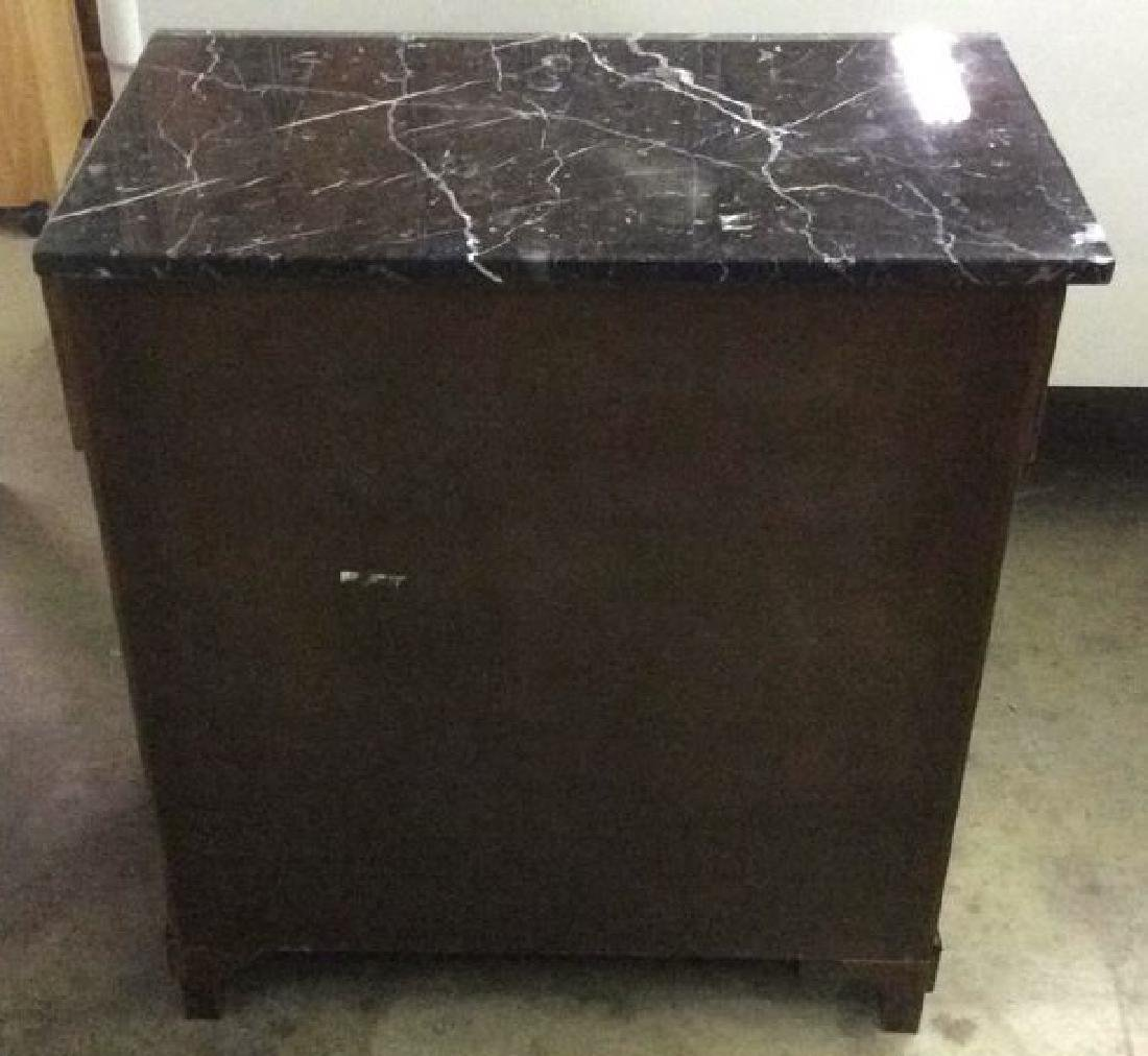 Empire Style vintage marble top Commode dresser - 4