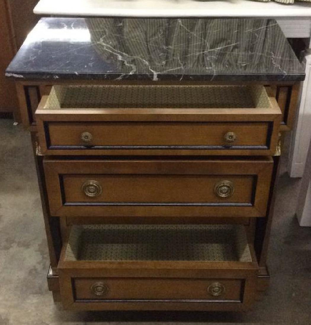 Empire Style vintage marble top Commode dresser - 5