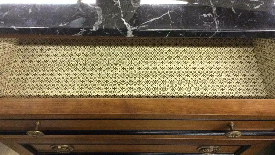 Empire Style vintage marble top Commode dresser - 6