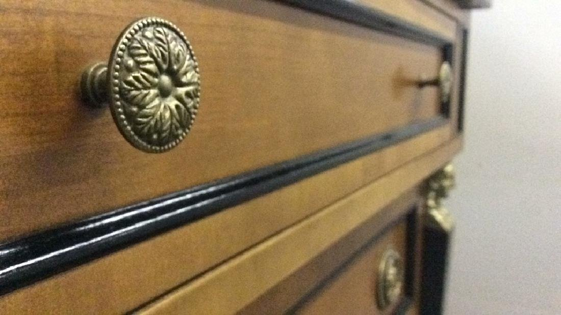 Empire Style vintage marble top Commode dresser - 7