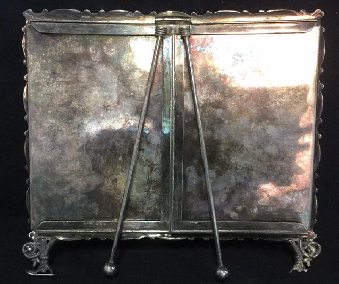 Lot 6 Silver Pl Picture Frame & Serving Utensils - 4