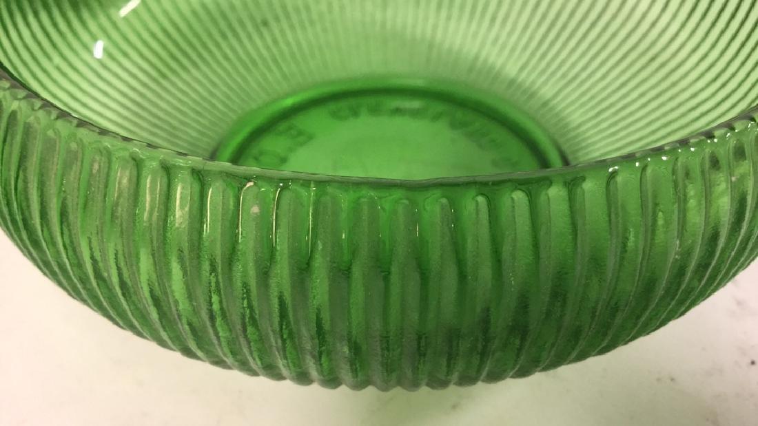 Set Of 5 Vintage E O Brody Co Green Glass Bowls - 6