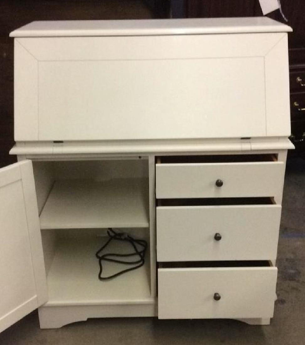 Cream Toned Wooden Flip Open Writers Desk - 2