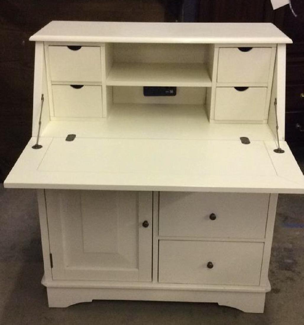 Cream Toned Wooden Flip Open Writers Desk - 3