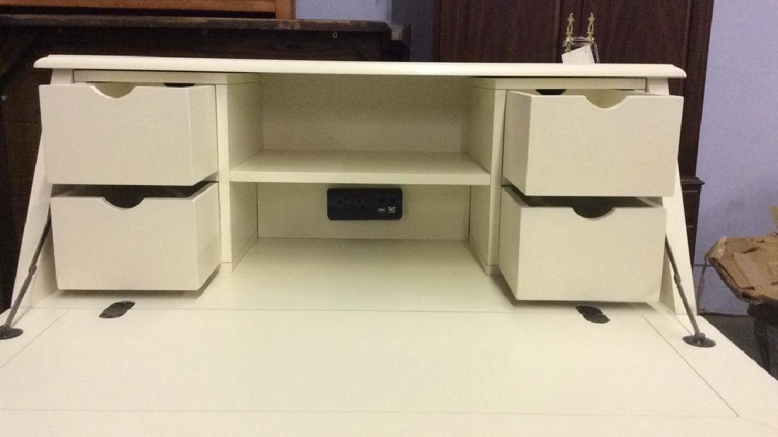 Cream Toned Wooden Flip Open Writers Desk - 4