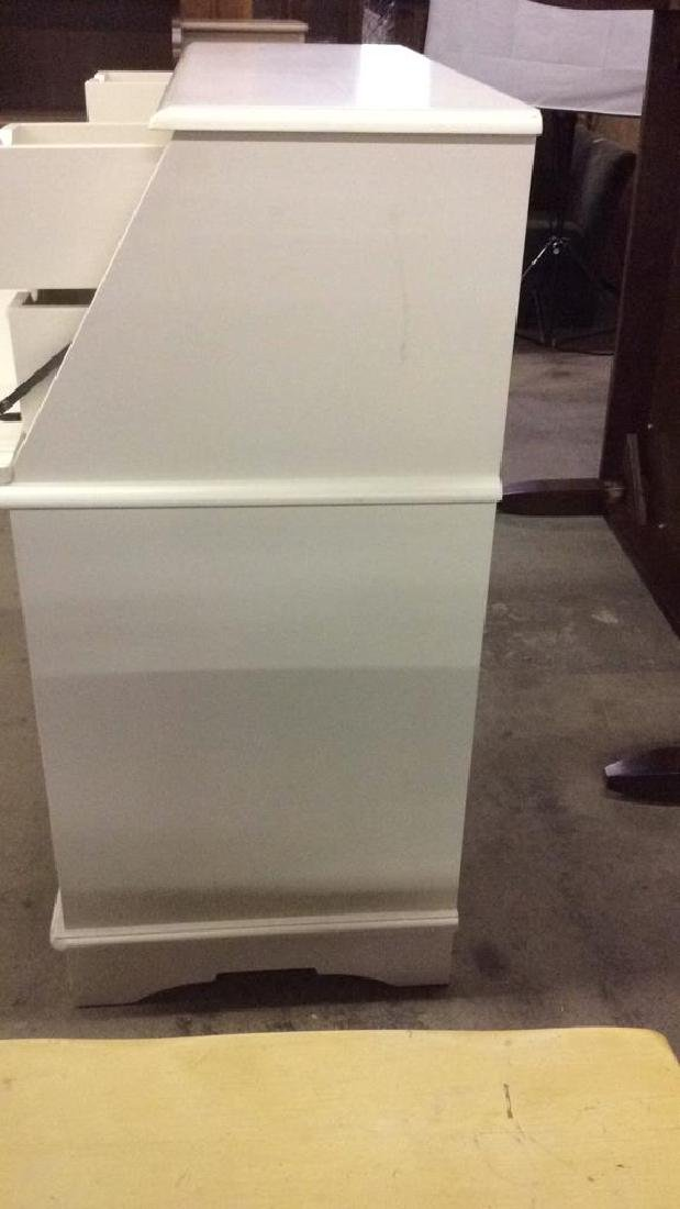 Cream Toned Wooden Flip Open Writers Desk - 6