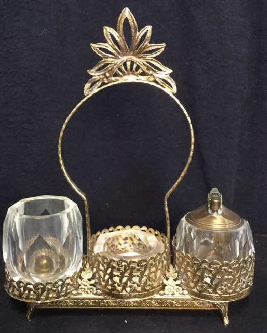 Cut Glass Smoking Accessories With Stand
