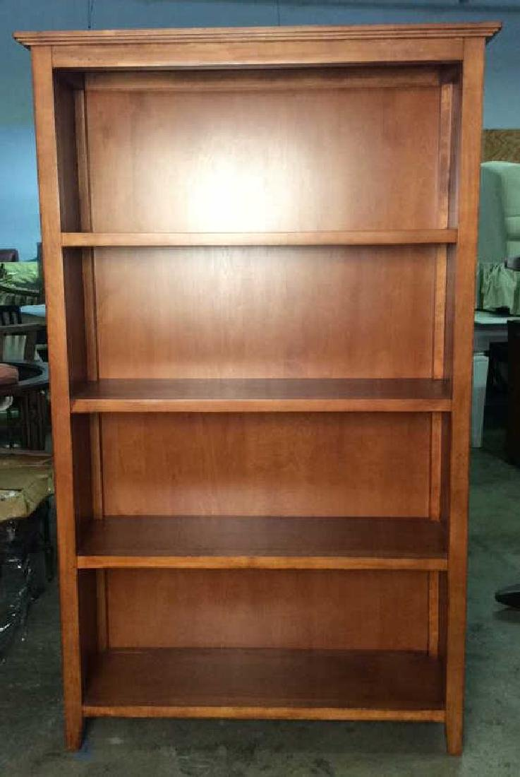 Light Brown Toned Wooden Bookshelf